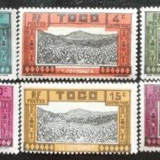 Sellos: 1925. TOGO. SELLOS TAXA. 9 / 14. CULTIVOS DE ALGODÓN. MONTE. SERIE COMPLETA. NUEVO.. Lote 194392306