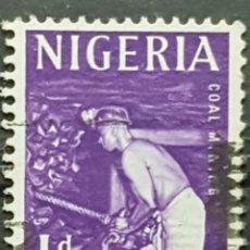 Sellos: NIGERIA_SELLO USADO_MINERO 1P_YT-NG 98 AÑO 1961 LOTE 7573. Lote 194610632