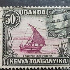 Sellos: AFRICA ORIENTAL BRITANICA_SELLO USADO_BARCO LAGO VICTORIA 50C_YT-EA 56 AÑO 1938 LOTE 8358. Lote 194909497