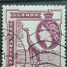 Sellos: AFRICA ORIENTAL BRITANICA_SELLO USADO_JIRAFA 50C PURPURA ROJO_YT-EA 94 AÑO 1954 LOTE 8365. Lote 194909598