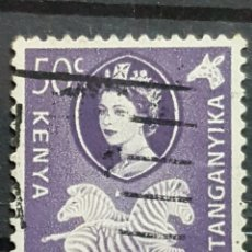 Sellos: AFRICA ORIENTAL BRITANICA_SELLO USADO_CEBRAS 50C REINA ISABEL_YT-EA 112 AÑO 1960 LOTE 8372. Lote 194909696