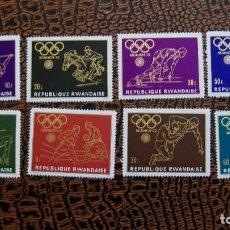 Sellos: /22.02/-RWANDA-1971-Y&T 511/15 SERIE COMPLETA EN NUEVO SIN FIJASELLOS(**MNH). Lote 194929717