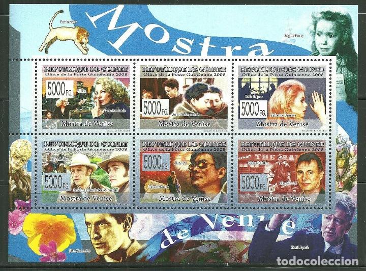 GUINEA 2008 IVERT 3756/61 *** ARTE - LA MUESTRA DE VENECIA - CINE - PERSONAJES (Sellos - Extranjero - África - Otros paises)