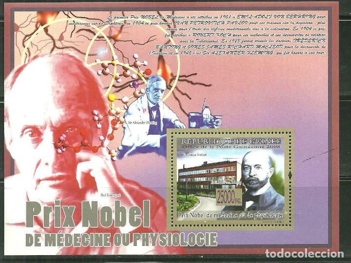 GUINEA 2008 HB IVERT 941 *** PREMIO NOBEL DE MEDICINA Y PSICOLOGÍA - EMIL ADOLF VON BEHRING (Sellos - Extranjero - África - Otros paises)