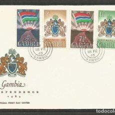 Sellos: GAMBIA SOBRE PRIMER DIA DE CIRCULACION YVERT NUM. 199/202. Lote 195508488