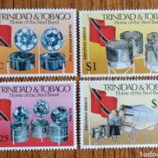 Sellos: TRINIDAD&TOBAGO TAMBORES METÁLICOS, MNH (FOTOGRAFÍA REAL). Lote 199486868