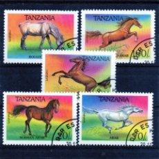 Sellos: ++ SERIE COMPLETA DE TANZANIA AÑO 1993 USADOS CABALLOS. Lote 200062875