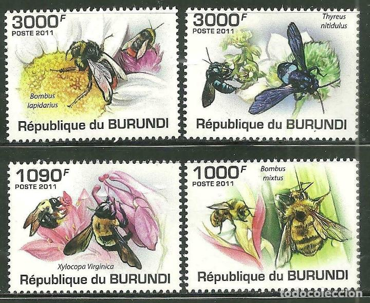 BURUNDI 2011 SCOT 882/85 *** FAUNA - LAS ABEJAS - INSECTOS (Sellos - Extranjero - África - Otros paises)