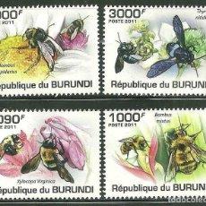 Sellos: BURUNDI 2011 SCOT 882/85 *** FAUNA - LAS ABEJAS - INSECTOS. Lote 200336072