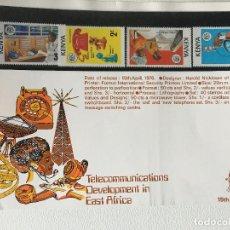 Sellos: KENYA SELLOS, HOJA CONMEMORATIVA TELECOMUNICACIONES ESTE DE AFRICA, 1976. Lote 201788323