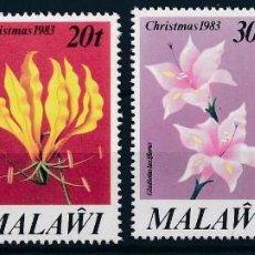 Sellos: SELLOS MALAWI NUEVOS, 1983, FLORES NAVIDAD 83. Lote 201946536
