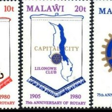 Sellos: SELLOS MALAWI NUEVOS , 75 ANIVERSARIO ROTARY. Lote 201947125