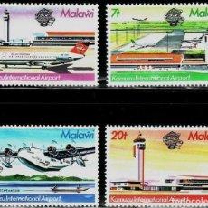 Sellos: SELLOS MALAWI, NUEVOS , 1983, AEROPUERTO INTERNACIONAL DE KAMUZU.. Lote 202256343