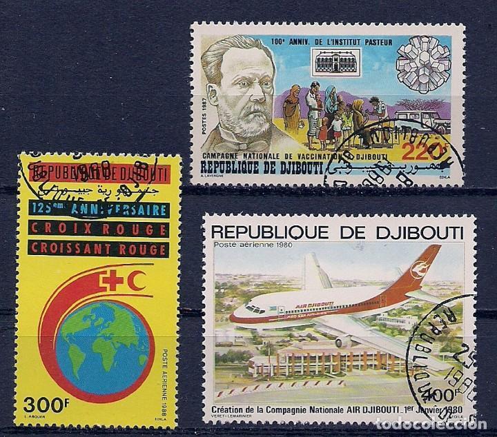 DJIBOUTI - PEQUEÑO LOTE - LOS DE LA FOTO - USADOS (Sellos - Extranjero - África - Otros paises)