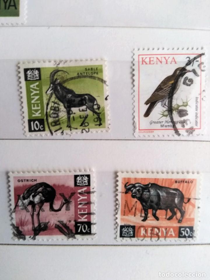 KENIA, 4 SELLOS USADOS DIFERENTES (Sellos - Extranjero - África - Otros paises)