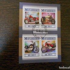 Sellos: MOZAMBIQUE-4 SELLOS-HOJA BLOQUE-MOTOCICLETAS-2015-. Lote 203077697