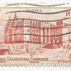 Sellos: SELLO USADO DE MOSQUEE DE DJENNE AU SOUDAN DE 1947- AFRIQUE OCCIDENTALE FRANCAISE- MALI. Lote 203079065