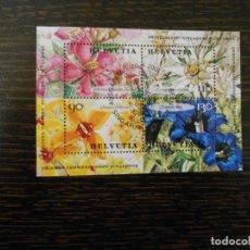 Sellos: SUIZA-HOJA BLOQUE-4 SELLOS-EMISIÓN CONJUNTA SUIZA Y SINGAPUR-2001. Lote 203217792