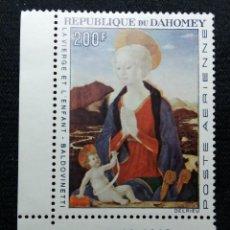 Sellos: REPU. DAHOMEY, 200F, ARTE Y RELIGION, AÑO1966. NUEVO. Lote 203826703
