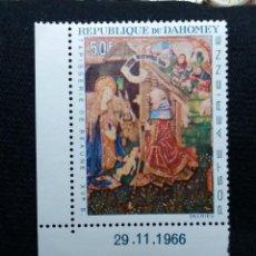 Sellos: REPU. DAHOMEY, 50F, ARTE Y RELIGION, TAPISERIE, AÑO1966. NUEVO. Lote 203826953
