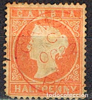GAMBIA Nº 5 (AÑO 1880), LA REINA VICTORIA DE INGLATERRA, USADO (Sellos - Extranjero - África - Otros paises)