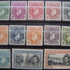 Sellos: NIGERIA - COLONIA BRITANICA - IVERT 52/62 + 53A - NUEVOS SIN GOMA -. Lote 205680680