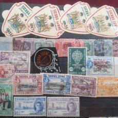 Sellos: SIERRA LEONA. 28 SELLOS. Lote 205737186