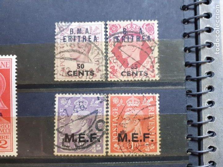 ERITREA. ADMINISTRACIÓN BRITÁNICA. 4 SELLOS (Sellos - Extranjero - África - Otros paises)