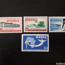Sellos: NIGERIA YVERT 93/6 SERIE COMPLETA NUEVA SIN CHARNELA. INDEPENDENCIA. PALOMA, CANOA. Lote 206417380