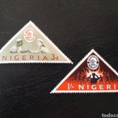 Sellos: NIGERIA YVERT 141/2 SERIE COMPLETA NUEVA ***. SCOUTS. Lote 206424200