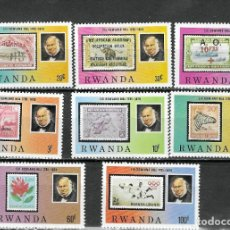 Sellos: RWANDA Nº 903 AL 910 (**). Lote 207001820