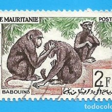 Sellos: MAURITANIA. 1963. MONOS. BABUINOS. Lote 221642687