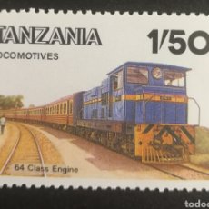 Sellos: TANZANIA, LOCOMOTORA CLASE 64 MNH, AÑO 1985 (FOTOGRAFÍA REAL). Lote 208691947