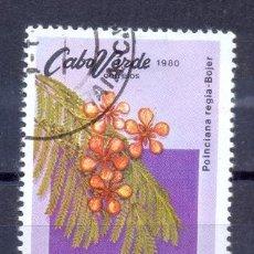 Sellos: CABO VERDE, PREOBLITERADO, FLORES TIPICAS. Lote 209838760