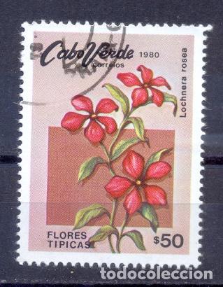CABO VERDE, PREOBLITERADO, FLORES TIPICAS (Sellos - Extranjero - África - Otros paises)