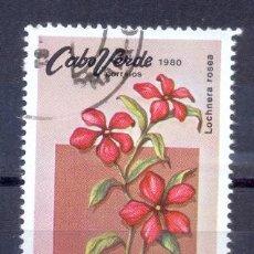 Sellos: CABO VERDE, PREOBLITERADO, FLORES TIPICAS. Lote 209838798