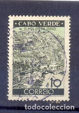 CABO VERDE, USADO 1948, VILLA RIBERA GRANDE (Sellos - Extranjero - África - Otros paises)