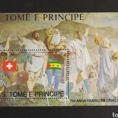 Sellos: SANTO TOMÉ Y PRÍNCIPE, 700 °ANIVERSARIO DE LA CREACIÓN DE SUIZA 1990 MNH (FOTOGRAFÍA REAL). Lote 210131088