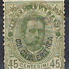 Sellos: ERITREA COLONIA ITALIANA Nº 18 (AÑO1895), EL REY HUMBERTO I, SELLOM DE ITALAIA SOBRECARGADO, USADO. Lote 214478876