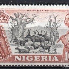 Sellos: NIGERIA/1953/MNH/SC#90/ CABRAS Y GANADO FULANI. Lote 215499615