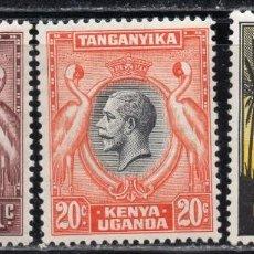 Sellos: KENYA UGANDA & TANZANIA/1935/MH/SC#46, 48, 50/ REY JORGE V / REALEZA/ SET INCOMPLETO. Lote 215499757
