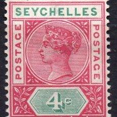 Sellos: SEYCHELLES/1890/MH/SC#4/ REINA VICTORIA / REALEZA/ DIE II. Lote 215502748