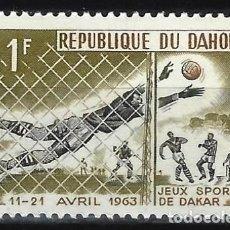 Francobolli: DAHOMEY 1963 - JUEGOS DEPORTIVOS DE LA AMISTAD, DAKAR, FÚTBOL - MH*. Lote 215697673