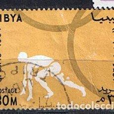 Timbres: LIBIA 1964 ATLETISMO OLIMPIADAS DE TOKIO - SELLO USADO ANTIGUO. Lote 217505205