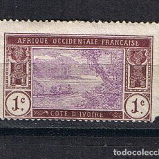 Sellos: COSTA DE MARFIL 1913 AFRICA OCCIDENTAL FRANCESA COTE DE IVOIRE - SELLO CLASICO ANTIGUO. Lote 220421181