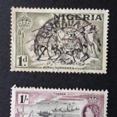Sellos: SERIE COMPLETA 1953 NIGERIA MOTIVOS LOCALES. Lote 221412708