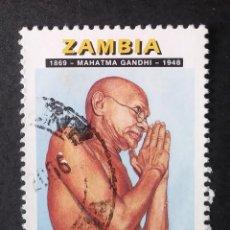 Sellos: 1998 ZAMBIA 50 ANIVERSARIO MUERTE MAHATMA GANDHI. Lote 221482750
