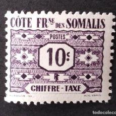 Sellos: 1947 COSTA SOMALÍ FRANCESA SERIE NÚMEROS. Lote 221483820