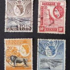 Sellos: 1938 KENIA, UGANDA Y TANGANICA ISABEL II Y PAISAJES. Lote 221567521