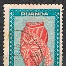 Sellos: RUANDA URUNDI Nº 114, ESTATUILLAS Y MÁSCARAS, MÁSCARA DE DANZA, REINO BA-KUBA, USADO. Lote 221687722